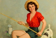 Дівчина на риболовлі