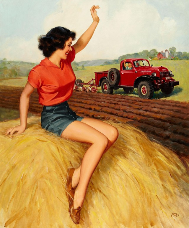 Pin-up on Haystack