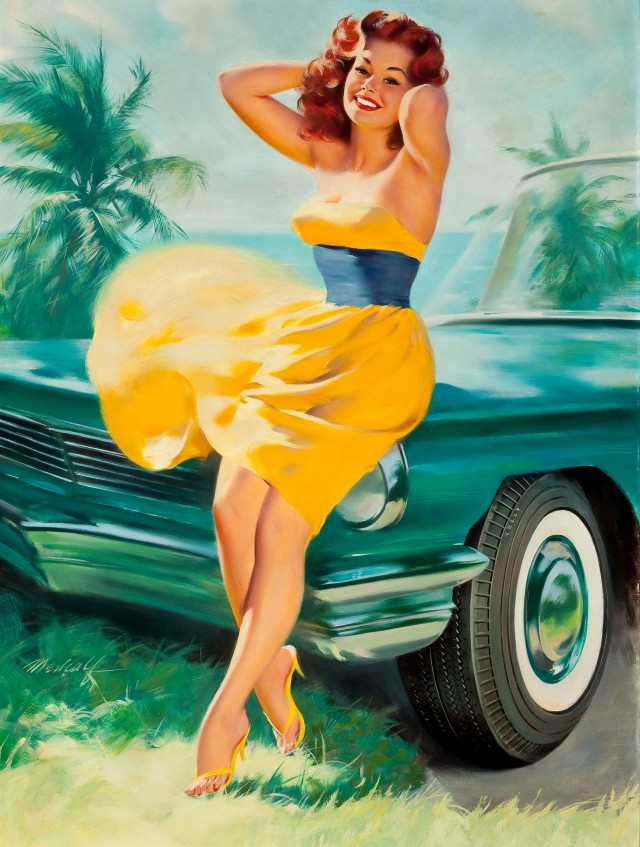 Pin-Up in Yellow Dress