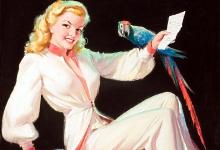 Дівчина з папугою